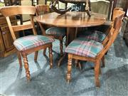 Sale 8822 - Lot 1891 - Timber Dropeaf Table and Four Chairs