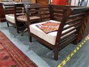 Sale 8889 - Lot 1017 - Pair of Oversized Timber Armchairs