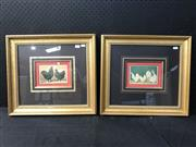Sale 8953 - Lot 2047 - Pair of Antique chromolithographs of Chickens and Roosters, frames: 43 x 48cm, each