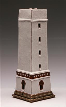 Sale 9131 - Lot 54 - Blavandshuk FYR studio potted figure of an obelisk (H:29cm)