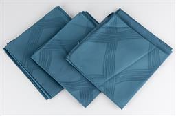 Sale 9255H - Lot 59 - A set 12 Christofle Onde damask cotton blue napkins, 51cm x 51cm, made in Italy.