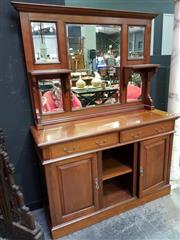 Sale 8462 - Lot 1008 - Timber Bevelled Edge Mirrored Back Sideboard with Two Drawers & Doors