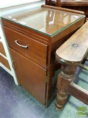Sale 8465 - Lot 1064 - Retro Bedside and Another