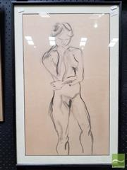 Sale 8491 - Lot 2017 - Artist Unknown - Standing Nude 67 x 44cm