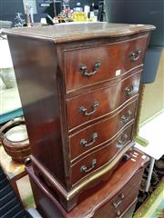 Sale 8589 - Lot 1056 - Small Serpentine Front Chest of Drawers