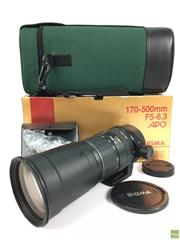 Sale 8645D - Lot 80 - Sigma Aspherical RF 170-500mm F5 6.3 Zoom Lens With Carry Case