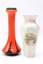Sale 8701 - Lot 87 - Shelley Lithgow Vase And Another 1970s Example