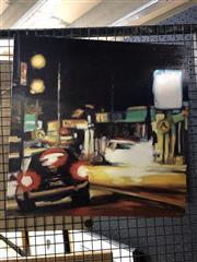 Sale 8833 - Lot 2059 - Karen McPhee  After Dark 2014 oil on canvas 46 x 46cm, signed verso -