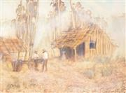 Sale 8891 - Lot 2001 - William (Bill) Offord (1944 - ) - Untitled (Farmstead), 1979 59.5 x 81 cm