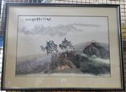 Sale 8941 - Lot 2036 - Chinese School Travel Mountains on Camelback ink and watercolour, 62 x 47cm (frame) -