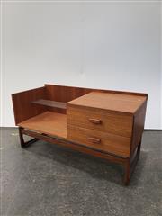 Sale 9080 - Lot 1077 - G-Plan Teak Dresser Base with 2 Drawers and Glass Shelf (h:57 x w:111 x d:48cm)