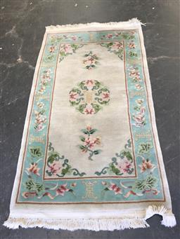 Sale 9108 - Lot 1067 - Chinese embossed woolen rug (165 x 93cm)