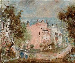 Sale 9161A - Lot 5012 - WILMOTTE WILLIAMS (1916 - 1992) - Paddington Pink 37 x 44.5 cm (frame: 59 x 66 x 4 cm)