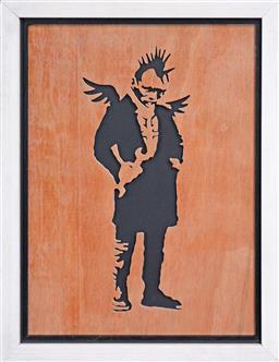 Sale 9117 - Lot 1016 - After Banksy (1975 - ) - Fallen Angel 36 x 24cm