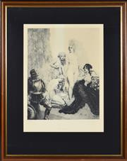 Sale 8330A - Lot 41 - Norman Lindsay (1879 - 1969) - Armoured 34.5 x 27.5cm