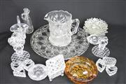 Sale 8396C - Lot 2 - Bohemia Crystal Basket with Other Wares incl. Serviette Holders