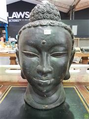 Sale 8580 - Lot 1018 - Ceramic Buddha Head (H: 54.5cm)