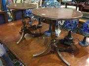 Sale 8795 - Lot 1076 - Pair of Timber Wine Tables