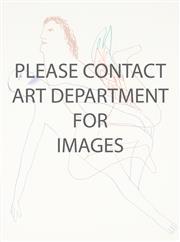 Sale 8916 - Lot 587 - Sidney Nolan (1917 - 1992) - Untitled (Illustration for Robert Lowell Near the Ocean Book), 1967 72 x 54 cm