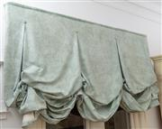 Sale 8990H - Lot 66 - A sage green acanthus decorated blind together with another and sundry fabric