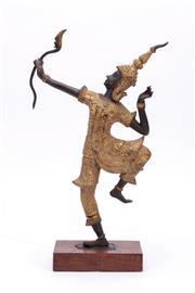 Sale 9015 - Lot 6 - Mounted Thai Archer H:34cm