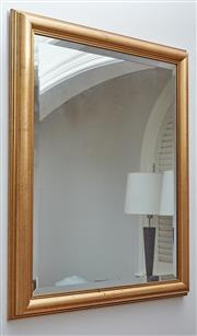 Sale 9081H - Lot 39 - A rectangular gilt framed bevelled edge mirror, 70cm x 84cm