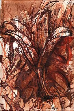 Sale 9161A - Lot 5001 - MARGARET WOODWARD (1938 - ) - Lillies 15 x 10 cm (frame: 49 x 43 x 2 cm)