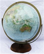 Sale 8319 - Lot 1 - 1950s Globe of the world in a gimbal frame