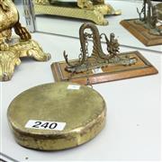 Sale 8351 - Lot 36 - Wall Mounted Brass Dinner Gong