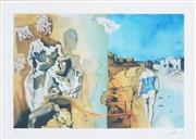 Sale 8492A - Lot 5017 - Salvador Dali (1904 - 1989) - Le rêve porte la main sur lépaule dun homme 38 x 58cm