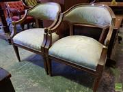Sale 8539 - Lot 1070 - Pair of Empire Style & Brass Mounted Armchairs