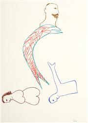 Sale 8916 - Lot 588 - Sidney Nolan (1917 - 1992) - Untitled (Illustration for Robert Lowell Near the Ocean Book), 1967 72 x 54 cm
