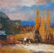 Sale 9001 - Lot 504 - Colin Parker (1941 - ) - Autumn in the Hartley Valley 37.5 x 36.5 cm (frame: 61 x 60 x 3 cm)