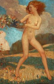 Sale 9001 - Lot 525 - Walter Tanner - Spring,1934 57 x 37 cm (frame: 70 x 50 x 5 cm)