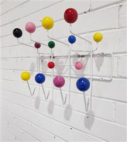 Sale 9134 - Lot 1059 - After Eames Hang-It-All multicoloured Coat Rack (h:36 x w:52cm)