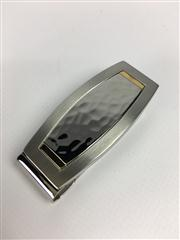 Sale 8292B - Lot 56 - A DOLAN BULLOCK MONEY CLIP, two tone strainless steel with gold tones RRP $120.00, new in gift box.