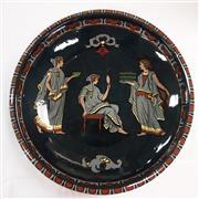 Sale 8319 - Lot 2 - Art deco Decoro bowl featuring female figures on a black ground