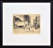 Sale 8374 - Lot 600 - Lionel Lindsay (1874 - 1961) - Bowdens Corner 21 x 14.5cm