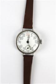 Sale 8405 - Lot 78 - English Hallmarked Sterling Silver Wristwatch