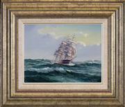 Sale 8411A - Lot 5004 - Ian Hansen (1948 - ) - Ship Harbinger 21.5 x 29cm