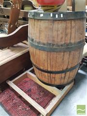 Sale 8455 - Lot 1019 - Pair of Half Barrel Bar Units