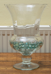 Sale 8677B - Lot 512 - Pair of glass urn form vases, each Height 33cm