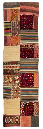 Sale 8715C - Lot 150 - A Persian Patchwork Pure Wool Pile, 300 x 84cm