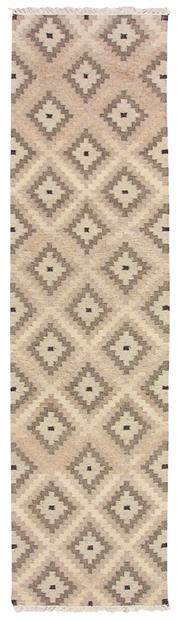 Sale 8725C - Lot 75 - An Indian Tribal Flatweave Carpet, Hand-knotted Wool, 305x80cm, RRP $800