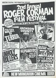 Sale 8766A - Lot 5018 - 2nd Annual Roger Corman Film Festival - screenprint