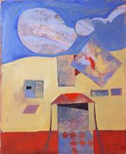 Sale 8787A - Lot 5043 - Robert Juniper (1929 - 2012) - Lonely Siding, 2004 56 x 44cm