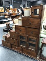 Sale 8822 - Lot 1809 - Timber Stepside Chest of Drawers