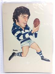 Sale 8863S - Lot 8 - David E Clarke, Geelong. Played 202 games for Geelong and scored 298 goals for them between 1971-1981, followed by 9 games for Carlt...
