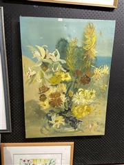 Sale 8888 - Lot 2065 - Ang Foa - Green Orchids oil on canvas, 88.5 x 64cm, signed lower right