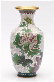 Sale 9052 - Lot 95 - Large Cloisonne Vase (H:21cm)